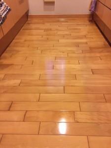 【ガラス】東京都三鷹市 築10年 天然木フローリング 乾燥後