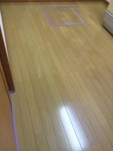 【シリコン】千葉県松戸市 未入居中古 天然木フローリング 施工前
