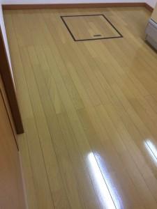 【シリコン】千葉県松戸市 未入居中古 天然木フローリング 乾燥後