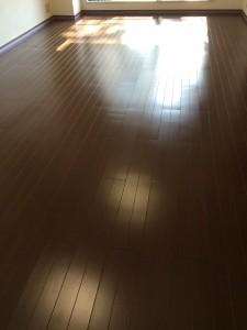 【シリコン】神奈川県川崎市高津区 天然木フローリング 剥離後